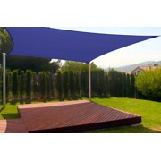 New Premium Clevr Sun Shade Canopy Sail 12'x12' Square UV Outdoor Patio Blue