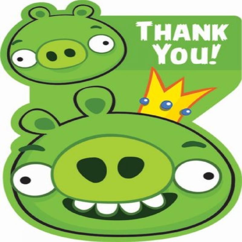 Angry Birds Thank You Notes w/ Envelopes (8ct)