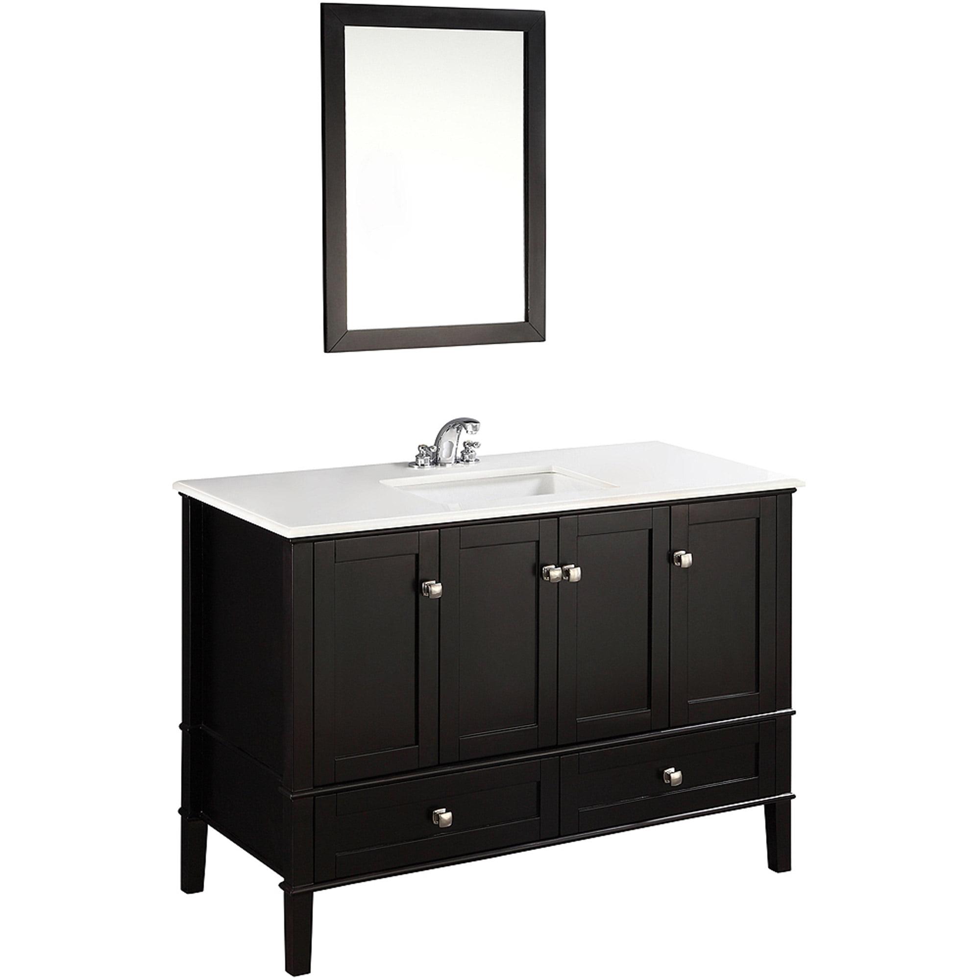 "Brooklyn + Max Chesapeake 48"" Black Bath Vanity - Walmart.com"