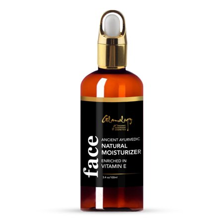 Glamology Organic Blend of Almond, Castor, Argan, Jojoba & Grapeseed oil with Vitamin E, Daily Moisturizer for dry Skin, Hair, Face, Scalp, Hand, Cuticle, Beard, Makeup Remover, Acne Cleansing 3.4 oz ()