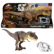 Jurassic World Stomp 'N Escape Tyrannosaurus Rex Camp Cretaceous Dinosaur Toy For 4 Year Olds & Up