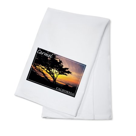 Party Tree Carmel (Carmel, California - Cypress Tree Silhouette - Photograph (100% Cotton Kitchen)