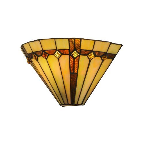 """Meyda Tiffany 138902 Belvidere 1 Light 13"""" Wide Hand-Crafted Wall Sconce with Stained Glass by Meyda Tiffany"""