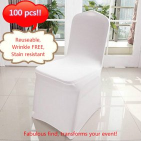 Outstanding 100 Pcs Banquet Chair Covers White Spandex Chair Covers For Party Wedding Ibusinesslaw Wood Chair Design Ideas Ibusinesslaworg