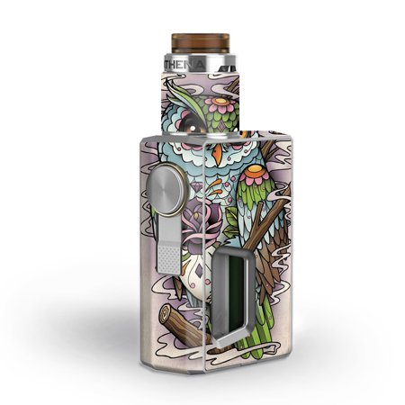 Skins Decals for GeekVape Athena Squonk Vape / Owl Painting Aztec (Athena Owl Coin)