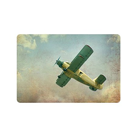 Mkhert Cool Vintage Airplane Doormat Rug Home Decor Floor