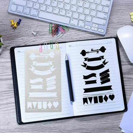 Tuscom Plastic Planner Stencils Journal Notebook Diary Scrapbook DIY Drawing Template