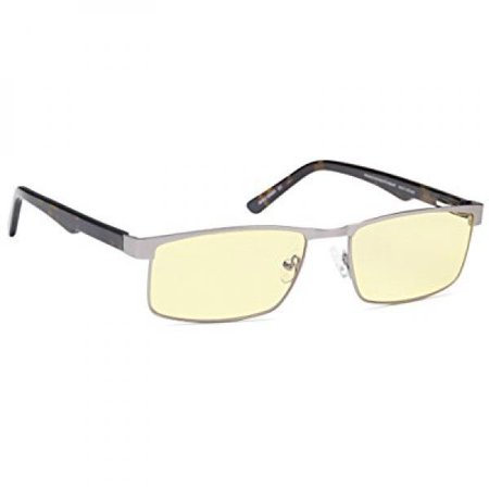 ALTEC VISION Gaming Glasses Stainless Steel Frame with Spring Temples and Anti UV and Digital Eye Strain Amber Tinted Lenses for $<!---->