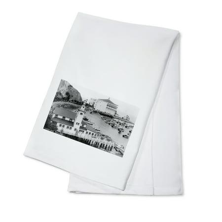 Catalina, California - Exterior View of the Tuna Club and Casino (100% Cotton Kitchen Towel) Gretsch Catalina Club