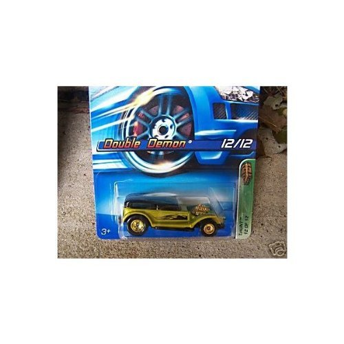 Hot Wheels 2005 Treasure Hunt 1:64 Scale Gold & Black Double Demon 12 12 Die Cast Car #132... by