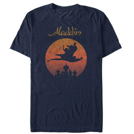 Aladdin Men's Navy Blue Magic Carpet T-Shirt-Small ()