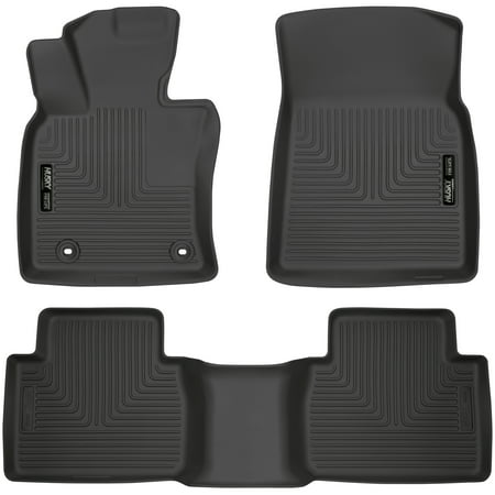 Husky Liners 95731 Black Front and 2nd Seat Floor Liner (Fits 18-18 Camry), 1 Pack Black Second Seat Floor Liners