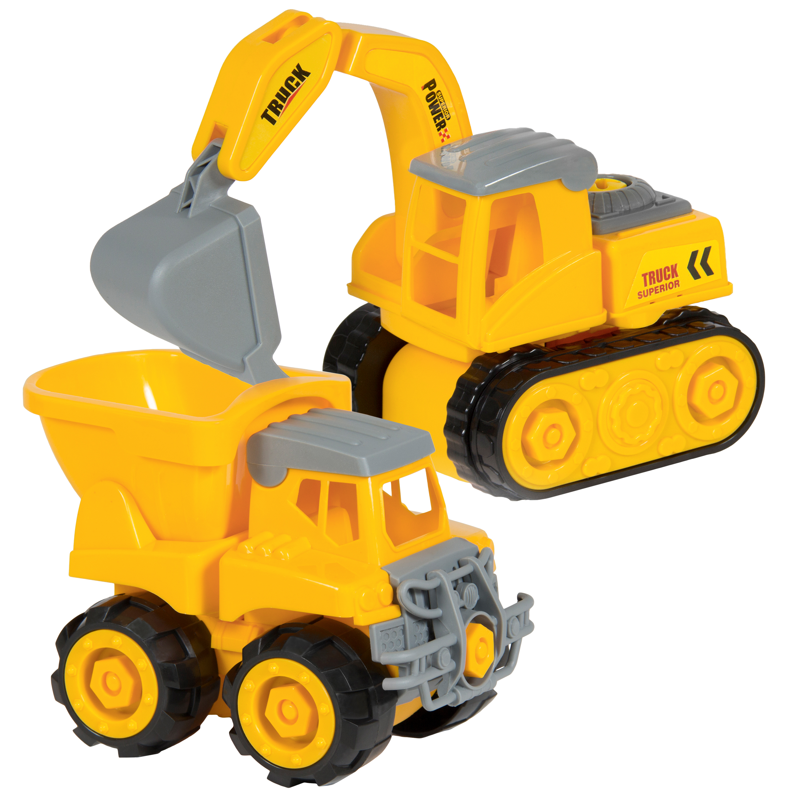 Best Choice Products Kids 2-Pack Assembly Take-A-Part Toy Construction Trucks Vehicles... by Best Choice Products
