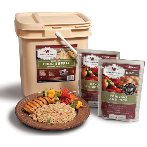 Wise Foods 56 Serving Breakfast/Entree Grab and Go Food Kit