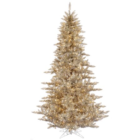Vickerman 3' Champagne Fir Artificial Christmas Tree with 100 Warm White LED Lights ()