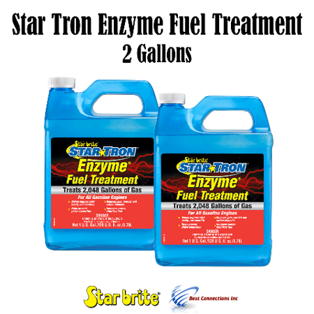 Star Brite Star Tron Enzyme Fuel Treatment Gas 2 Gallons Treats 4096