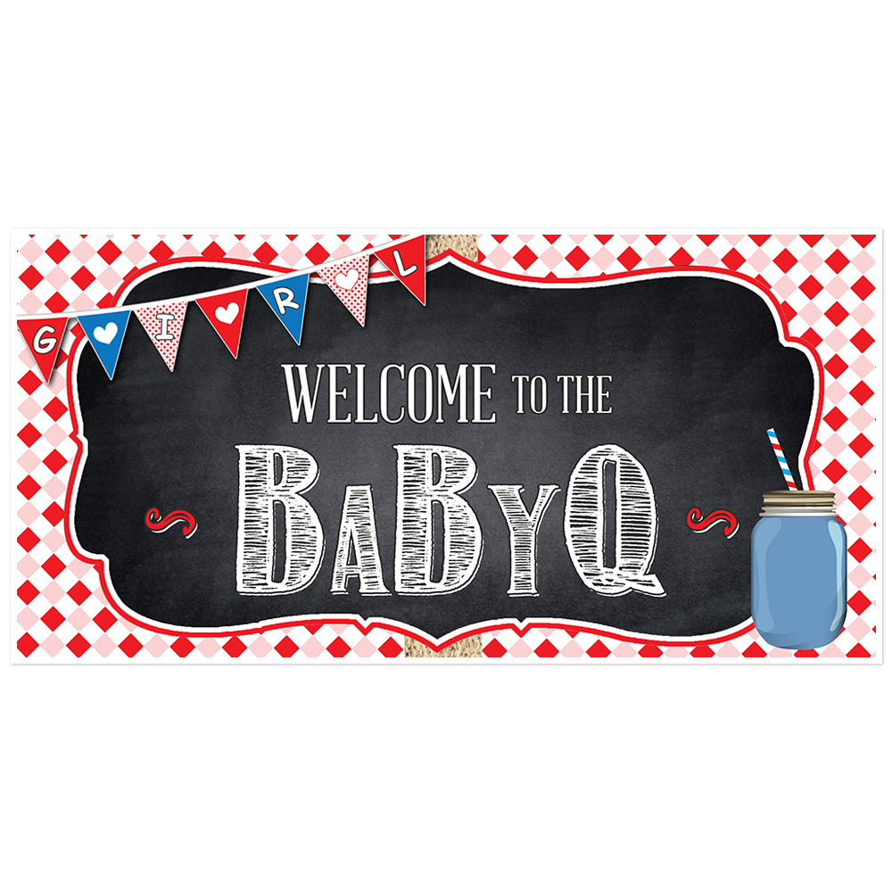 BabyQ Baby Shower Girl Banner
