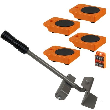 Furniture Lifter with 4pc Mover Rollers, Move Heavy Furniture Easily  - Furniture & Appliances Roll with Ease 4