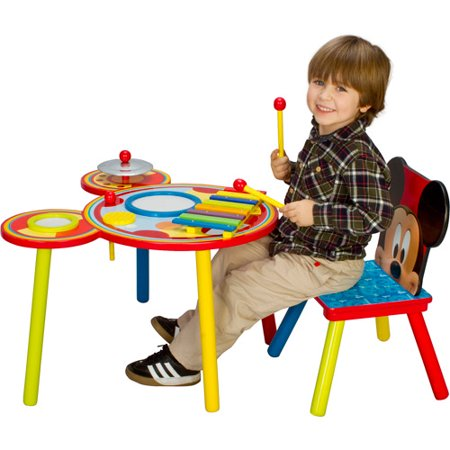 Disney Mickey Mouse Musical Table and Chair Set - Walmart.com