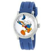 Disney Donald Duck Men's Silver Vintage Alloy Watch, 1-Pack