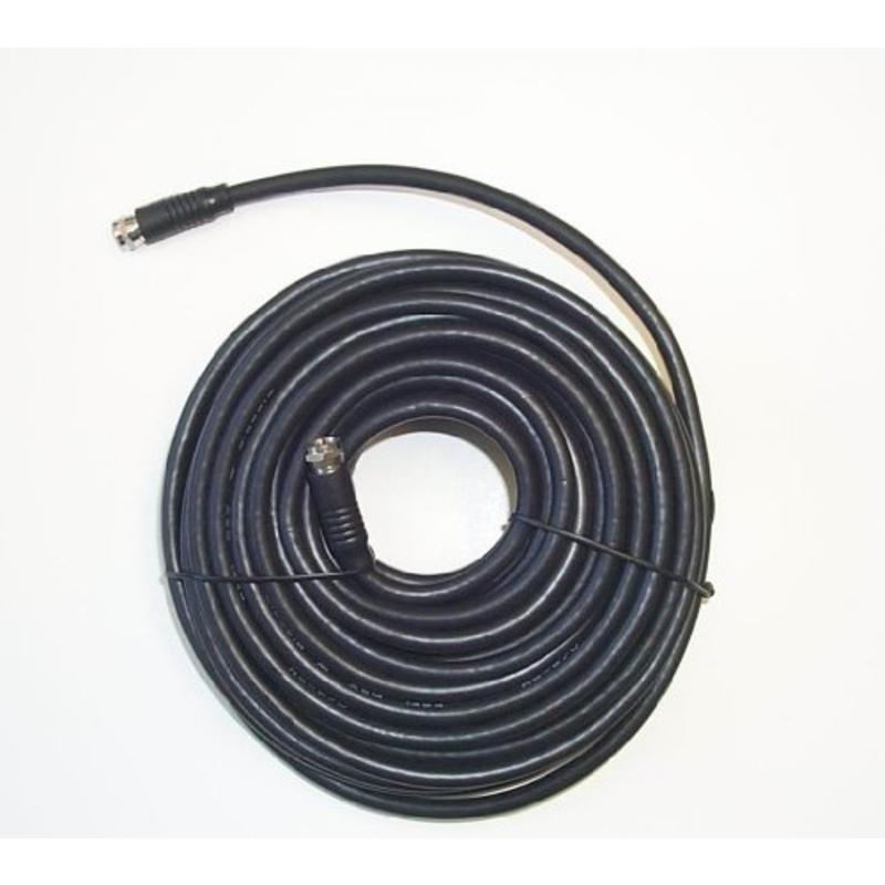50' Black Rg-6 H.D. Coax With Fittings Black Point TV Wire and Cable BV-085