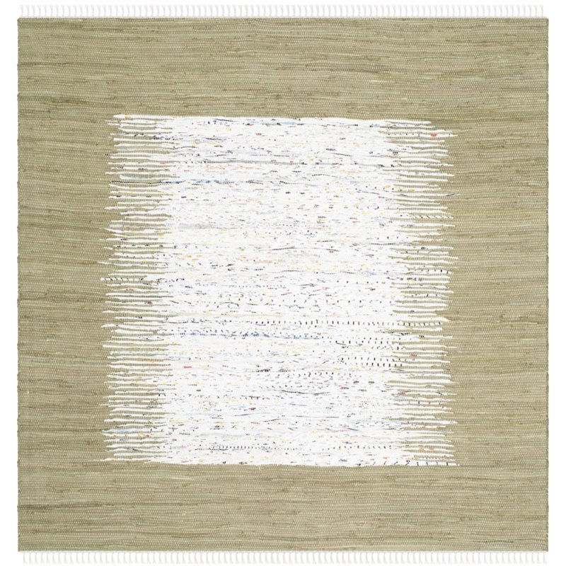Safavieh Montauk 4' Square Hand Woven Cotton Rug