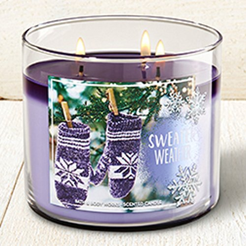 Bath And Body Works 3 Wick Candle 2016 Winter Edition Sweater