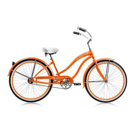 26 in. Rover Womens GX Beach Cruiser Bicycle, Orange & Orange -