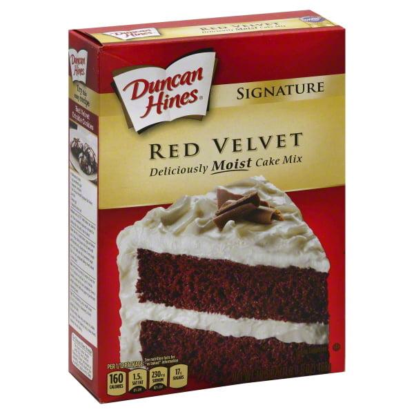 Duncan Hines Signature Red Velvet Moist Cake Mix, 16.5 oz