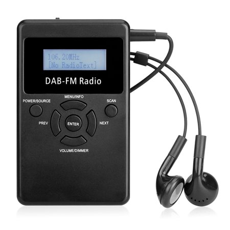 Portable Digital DAB FM RDS Radio Pocket Digital DAB Stereo Lossless Receiver with Earphone Lanyard 1.2
