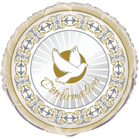 Foil Radiant Cross Confirmation Balloon, 18 in, Gold & Silver, 1ct for $<!---->