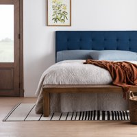 Rest Haven Upholstered Square Tufted Mid Rise Headboard - Queen