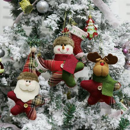 Christmas Tree Toys Decoration.3pcs Set Christmas Hanging Dolls Santa Reindeer Snowman Toys Christmas Tree Decorations Ornaments Walmart Canada