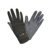 Womens Smart Touch Gloves Green Gray Polka Dot Texting Gloves Winter Fashion