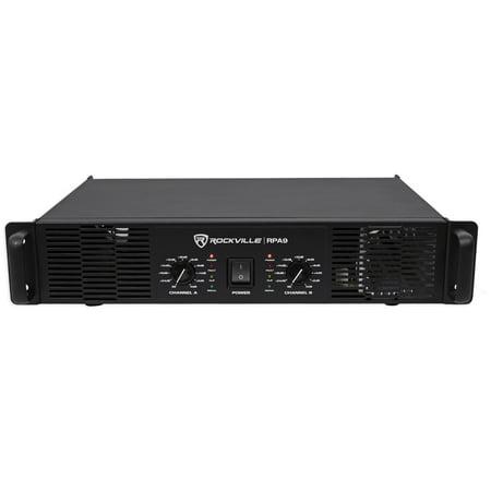 Rockville RPA9 3000 Watt Peak / 1500w RMS 2 Channel Power Amplifier Pro/DJ Amp (3000 Watt Power Amplifier)