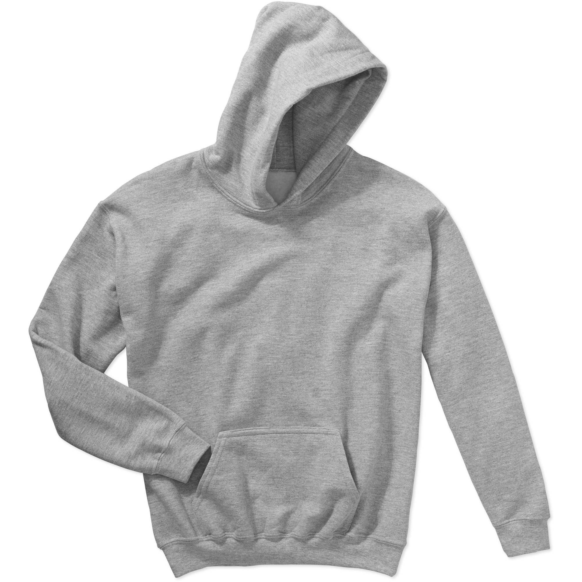 Large GILDAN Kids Big Hooded Youth Sweatshirt White