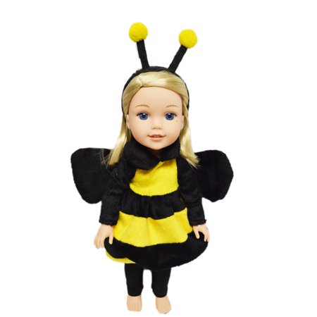 My Brittany's Bumble Bee Costume For American Girl Dolls Wellie Wishers