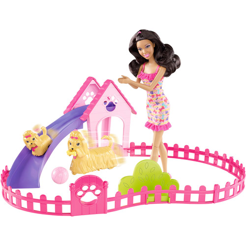 Barbie Puppy Play Park and Nikki Doll Giftset