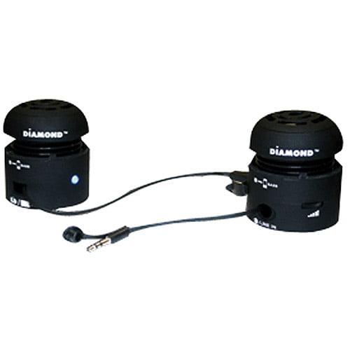 Diamond Multimedia MSP100B Mini-Rocker Speakers Black