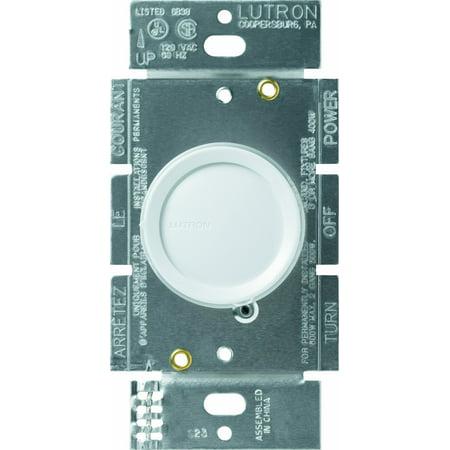 Lutron 3 Way Dimmer (Lutron D-603P-WH Rotary 600-watt 3-Way Dimmer,)