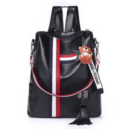 Korean Fashion Casual Dual-Use Bag Small Fresh Soft Leather Women'S Backpack - image 1 de 10