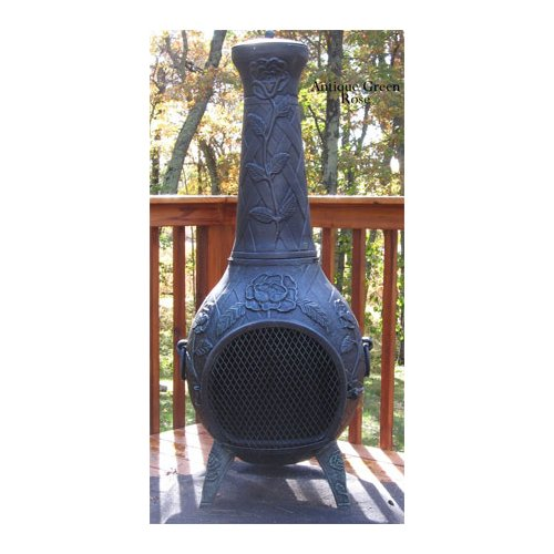 The Blue Rooster Aluminum Wood Burning Chiminea by The Blue Rooster