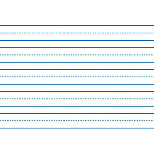 """School Smart Sulphite Long Way Skip-A-Line Writing Paper, 10.5"""" X 8"""", White, Pack of 500"""