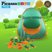 PicassoTiles PTC20 20 Piece Pretend Play Camping Set For Kids