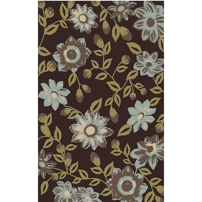 IMS 27130081893023 Floral Design Contemporary Accent Rug, Multicolor - 2 x 3 ft.