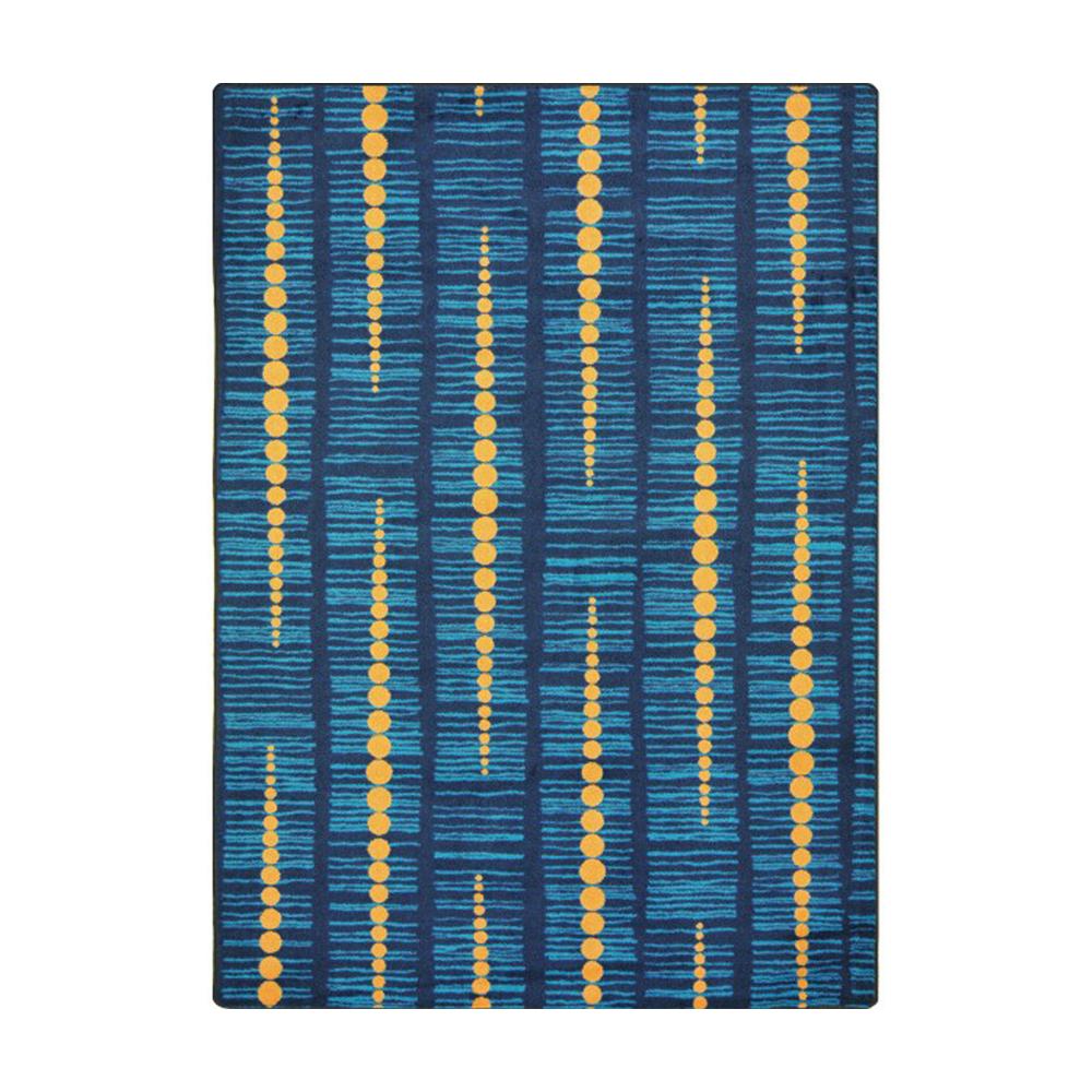 "Joy Carpets Kid Essentials - Teen Area Rugs Recoil, 3'10"" x 5'4"", Blue"