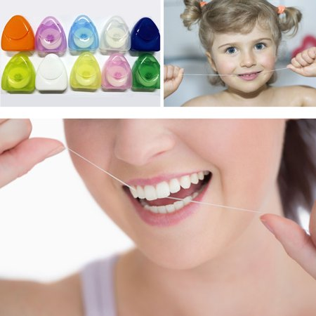 50 Meters Food grade dental floss tooth whitening mouth clean oral care portable multifunction dental