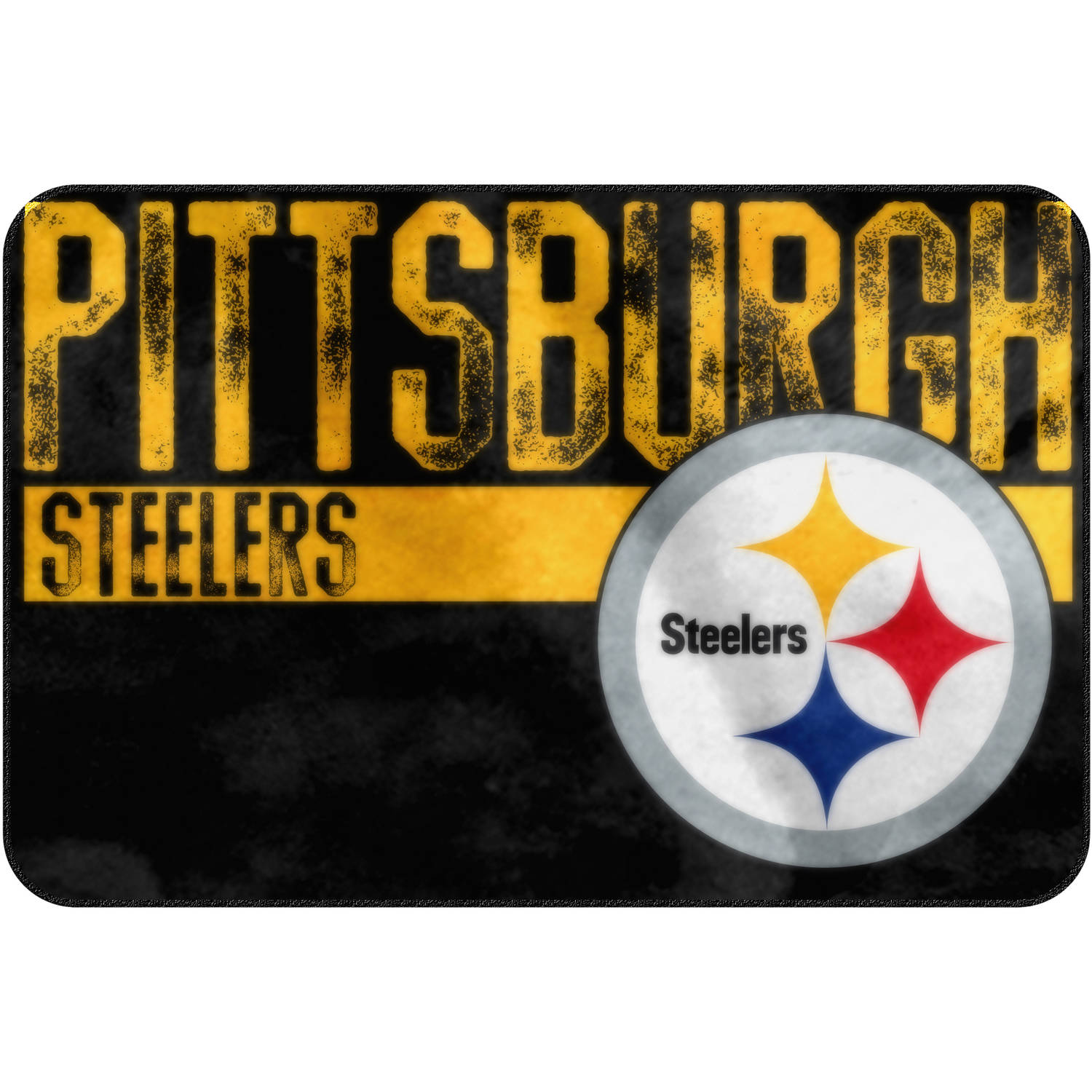 "NFL Pittsburgh Steelers ""Worn Out"" Mat, 20"" x 30"""