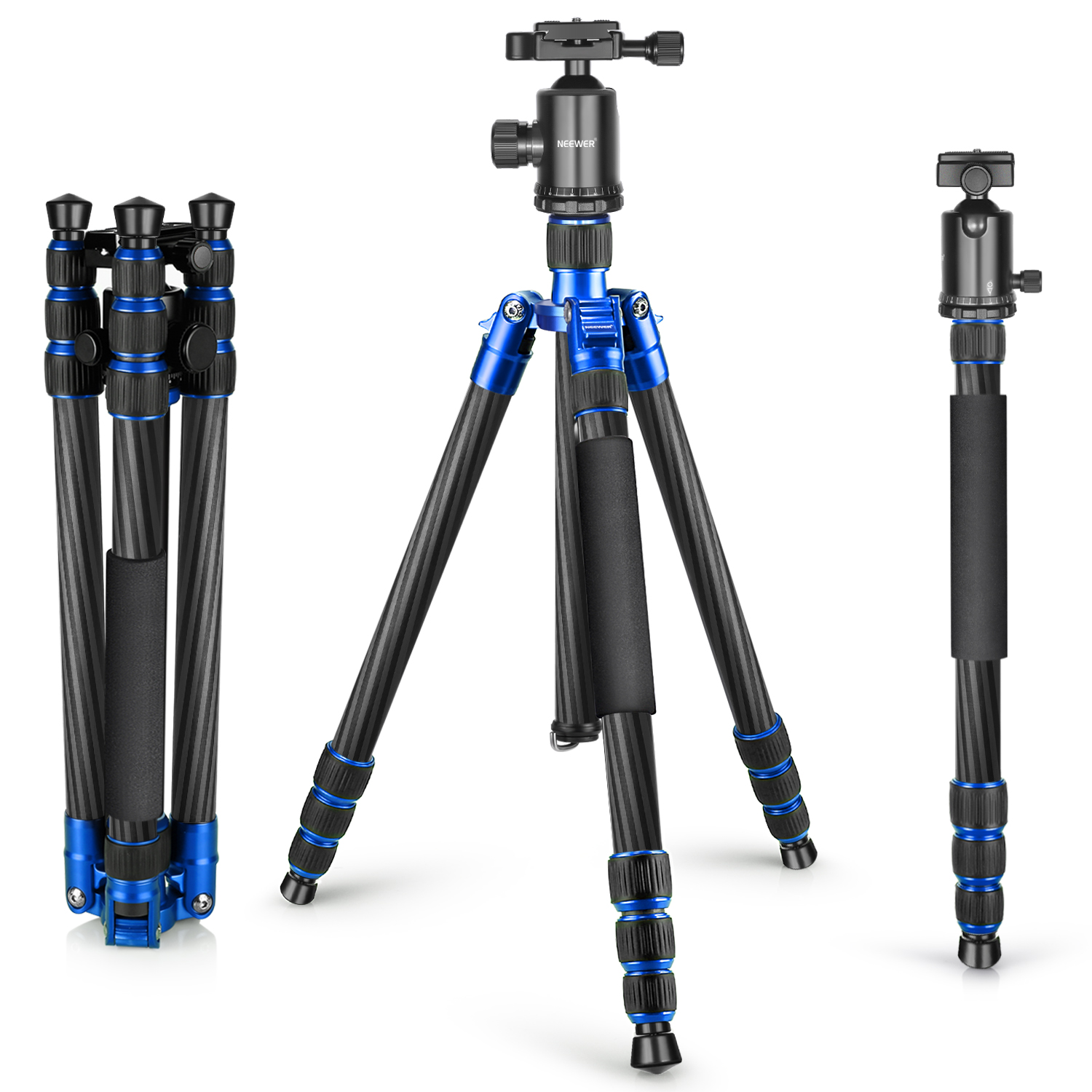 Neewer Carbon Fiber 65 inches/165 centimeters Tripod Mono...