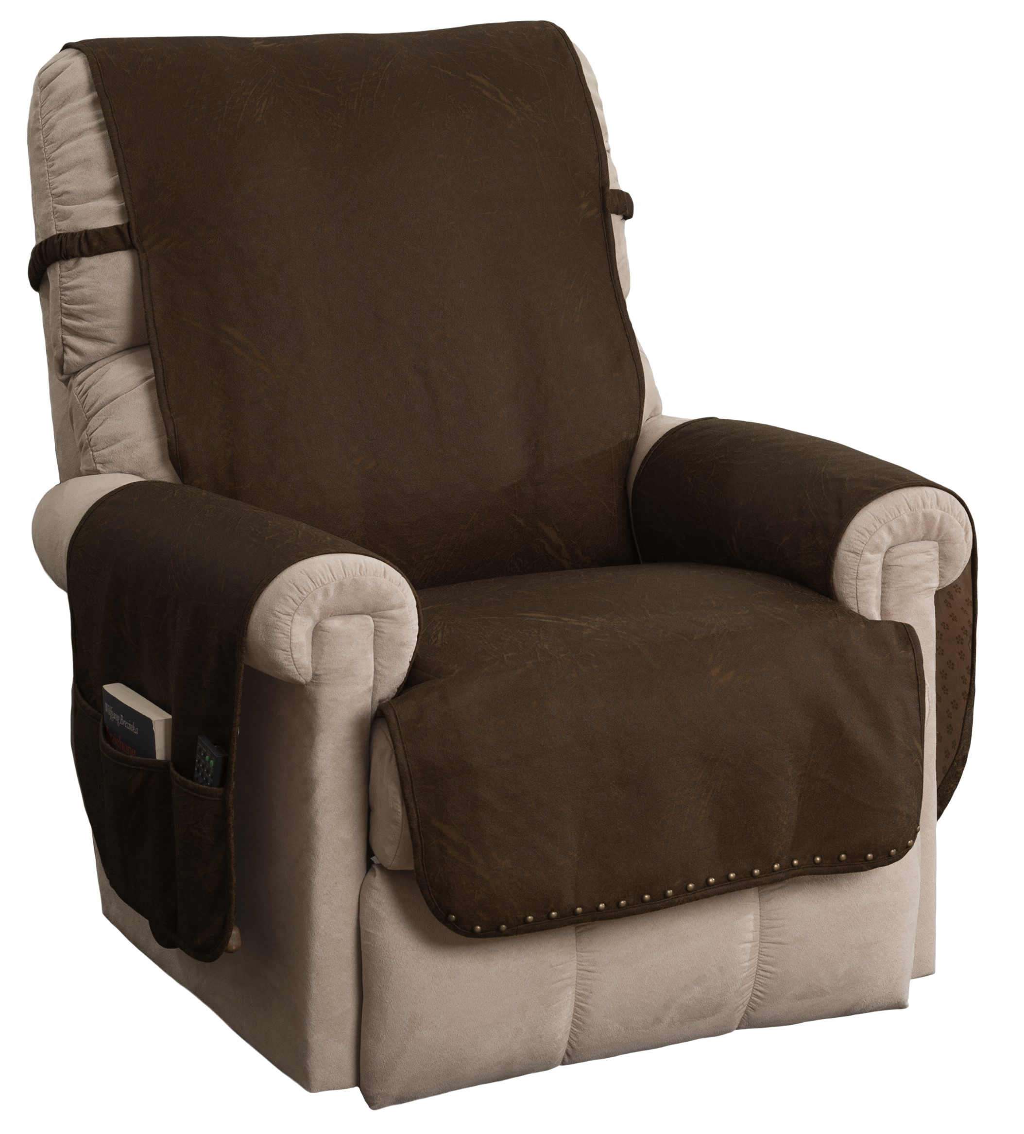 Innovative Textile Solutions Faux Leather Recliner Furniture Protector Slipcover